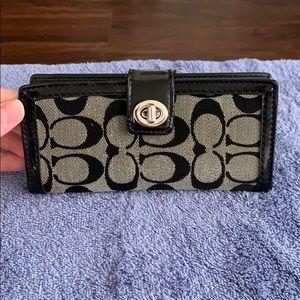 Black Coach Slim Wallet